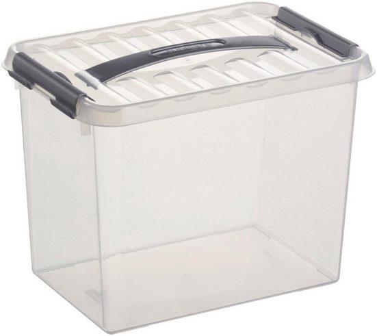 Sunware Aufbewahrungsbox »Q-line« (Set), Kunststoff, 9 Liter, mit Griff