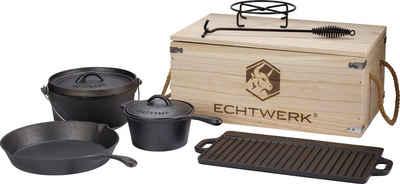 ECHTWERK Topf-Set »Dutch Oven«, Gusseisen, (Set, 7-tlg)