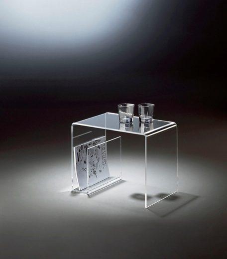 Places of Style Beistelltisch mit Zeitungssammler, aus Acrylglas