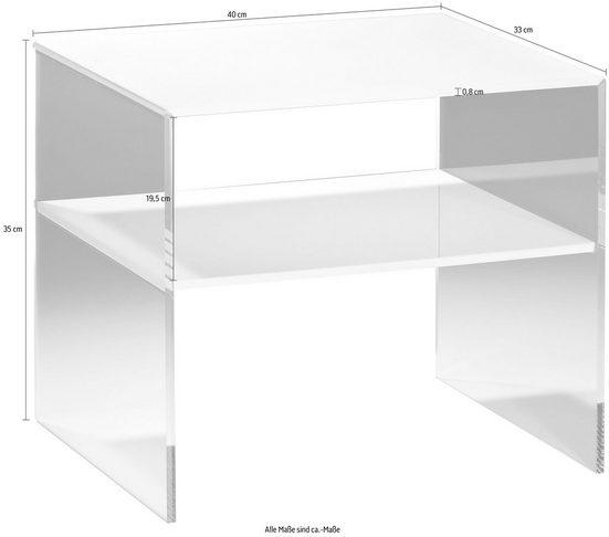 Places of Style Couchtisch »Remus«  aus Acrylglas