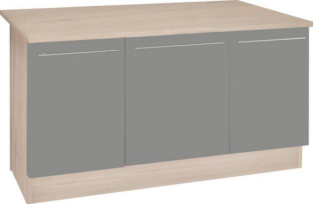 OPTIFIT Kochinsel »Bern«, mit Theke, Breite 160 cm   Küche und Esszimmer > Bar-Möbel > Tresen und Theken   Grau   OPTIFIT