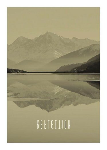 Komar Poster »Word Lake Reflection Sand«