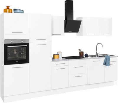 wiho Küchen Küchenzeile »Ela«, mit E-Geräten, Breite 340 cm