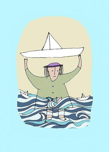 Komar Poster »Paper Ship«