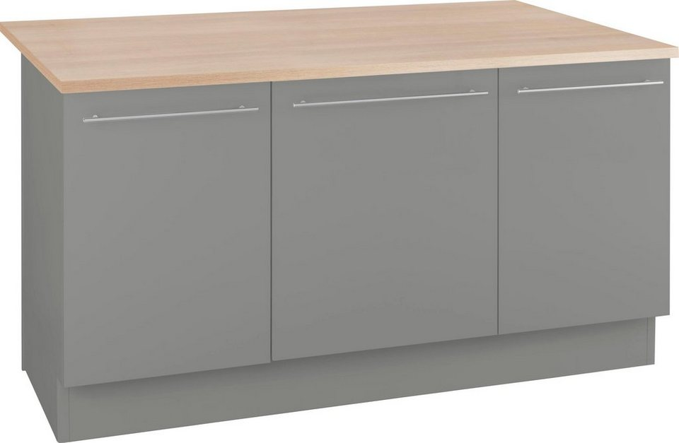optifit kochinsel k cheninsel mit theke breite 160 cm. Black Bedroom Furniture Sets. Home Design Ideas