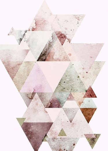Komar Poster »Triangles Red«