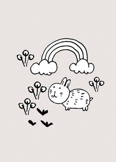 Komar Poster »Scribble Bunny«
