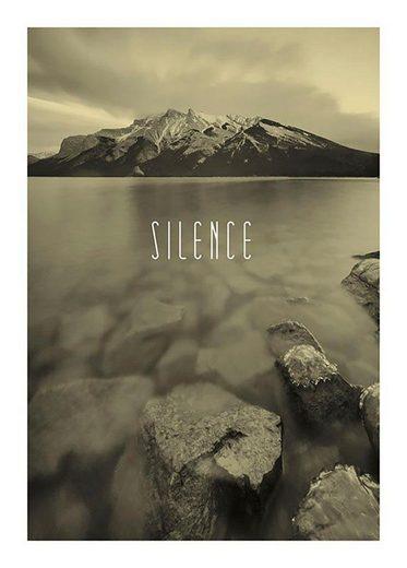 Komar Poster »Word Lake Silence Sand«