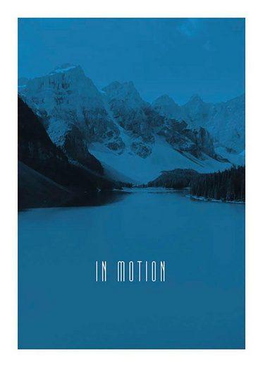 Komar Poster »Word Lake In Motion Blue«