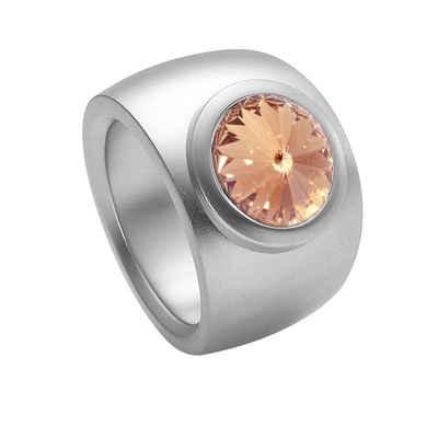 Heideman Fingerring »Coma Verlauf Glanzmatt« (1-tlg), mit Stein weiß oder farbig