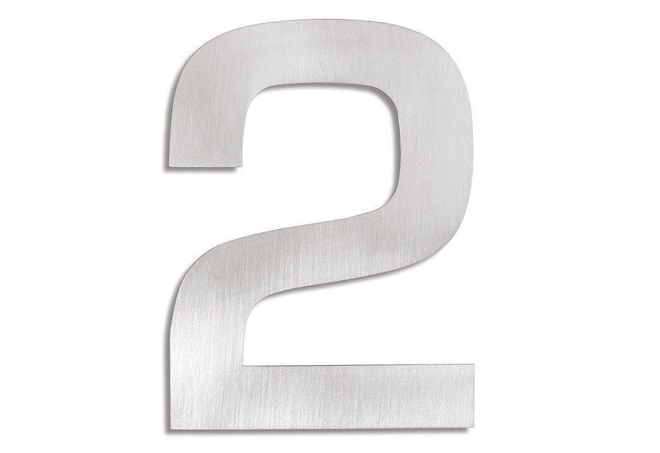 Hausnummer, Blomus, »Signo« in Edelstahl