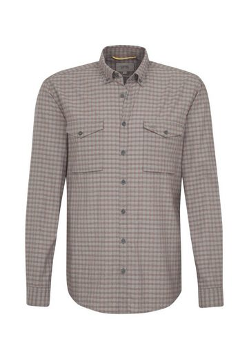 camel active Hemd »camel active« regular fit Langarm Button-Down-Kragen Karo