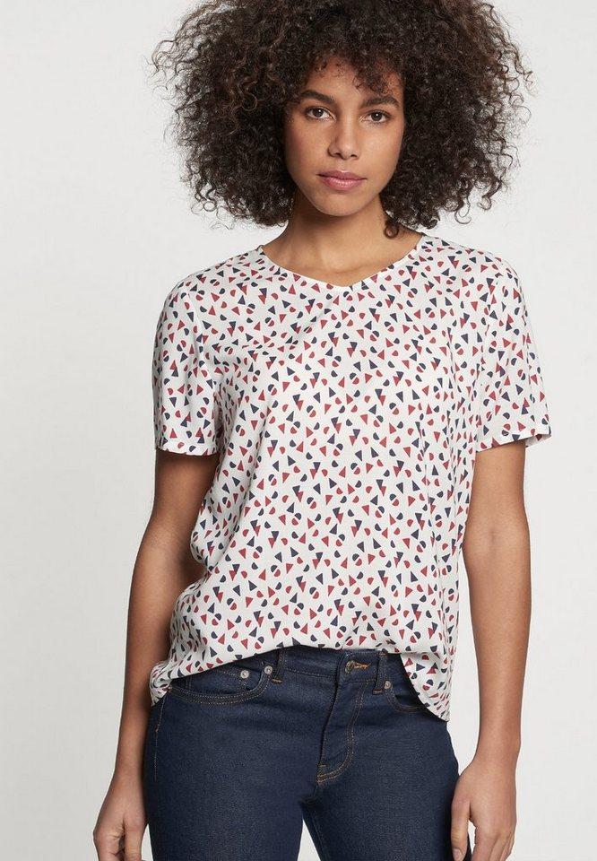 seidensticker Shirtbluse »Schwarze Rose« Kurzarm V-Neck Uni