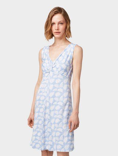 TOM TAILOR Sommerkleid »Kleid mit Knoten-Optik«