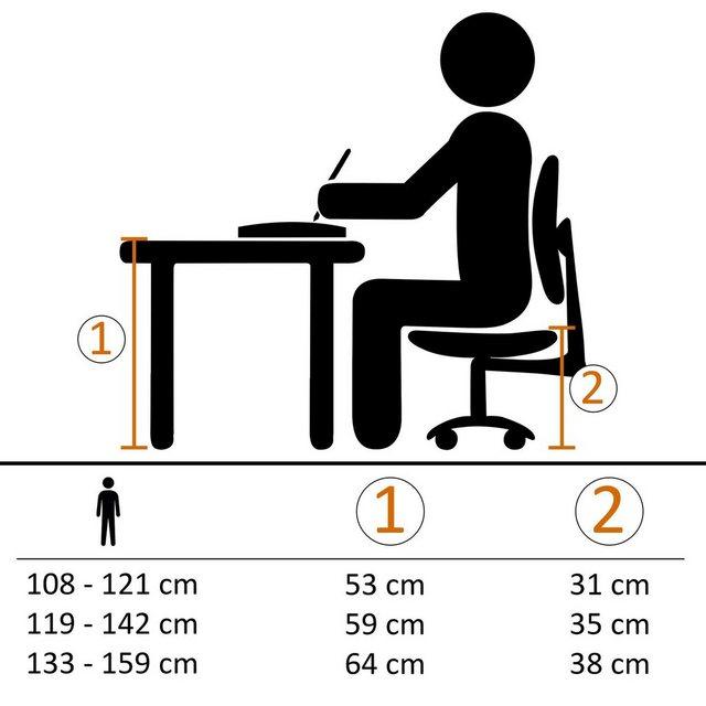 Kindertische - Wohnling Schreibtisch »WL5.124«, Design Kinderschreibtisch MAXI Holz 120 x 60 cm grau weiß Schülerschreibtisch neigungs verstellbar Kinder höhenverstellbar  - Onlineshop OTTO
