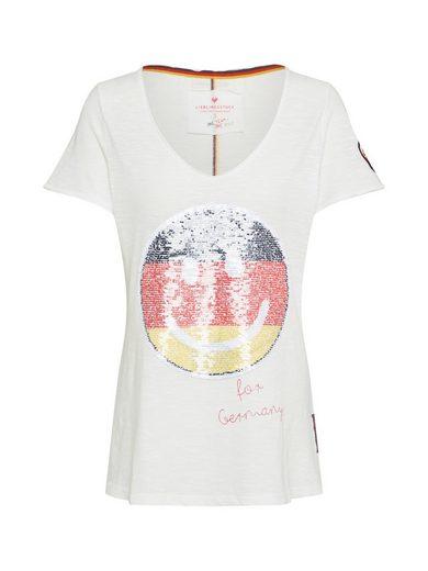 Lieblingsstück V-Shirt »CosimaL« Pailletten