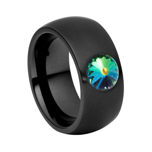 Heideman Fingerring »Coma 11 Schwarz« (1-tlg), Damenring mit Stein weiss oder farbig