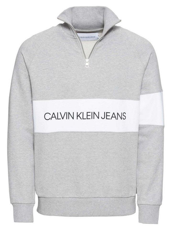 23c11d2c728 Calvin Klein Sweatshirt »INSTITUTIONAL LOGO HALF ZIP« online kaufen | OTTO