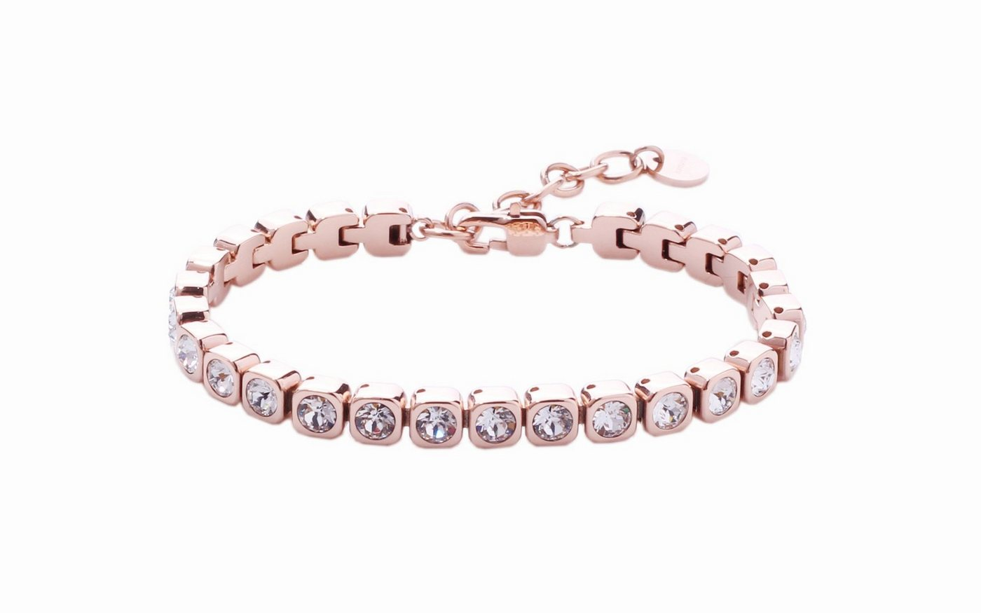 Heideman Armband »Amilla 3« Tennisarmband mit Swarovski Stein weiß Gliederarmband | Schmuck > Armbänder > Tennisarmbänder | Goldfarben | Heideman