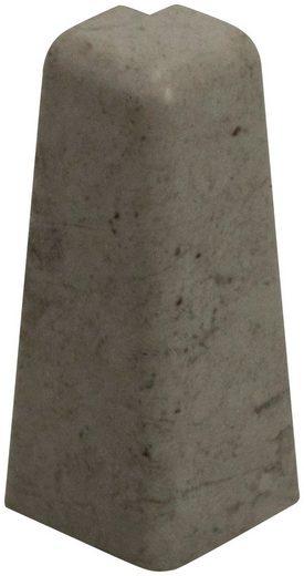 EGGER Außeneck »Stein grau«, Außeneck-Element für 6cm EGGER Sockelleiste, 2 Stk.