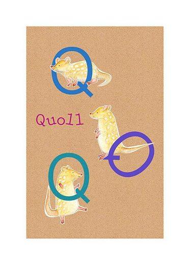 Komar Poster »ABC Animal Q«, Tiermotiv