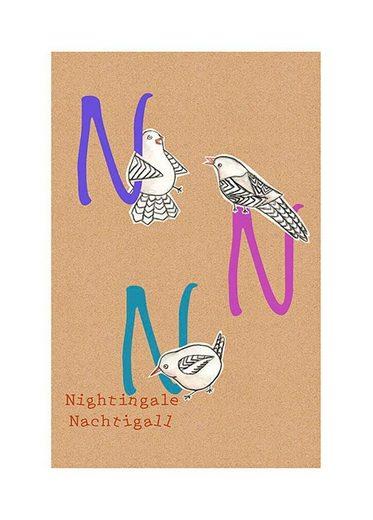 Komar Poster »ABC Animal N«, Tiermotiv