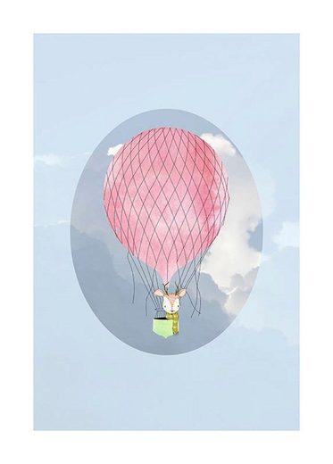 Komar Poster »Happy Balloon Blue«
