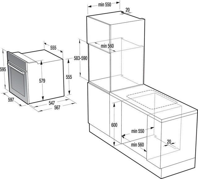 Küchengroßgeräte - GORENJE Backofen Set Classico Edition BO 7732 CLI EC 642 CLI, mit 2 fach Teleskopauszug, Großflächengrill  - Onlineshop OTTO