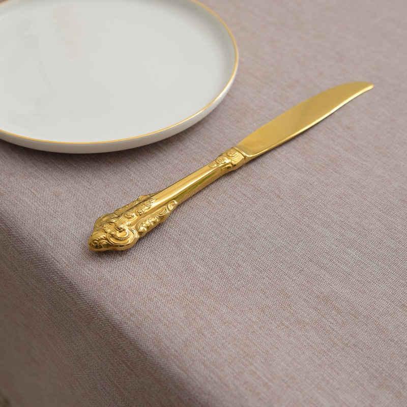 Yebeda Tischdecke »MH«, Wasserdicht Fleckschutz Baumwolle Leinen Tischdecke, Einfache Moderne Tischdekoration