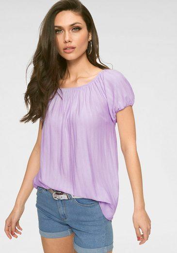 Vero Moda Carmenshirt »ORANGE« mit Streifen-Struktur