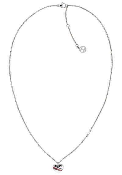 Tommy Hilfiger Herzkette »CASUAL CORE, 2780128«, mit Glasstein und Emaille