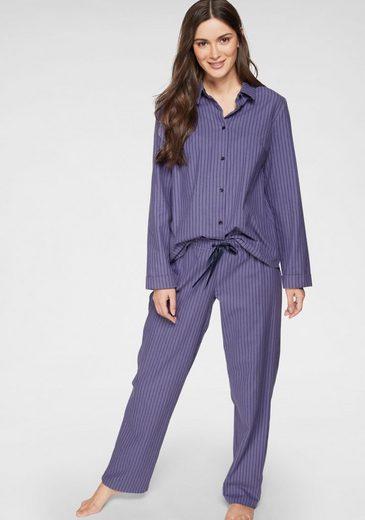 seidensticker Pyjama in klassischem Schnitt mit Längsstreifen