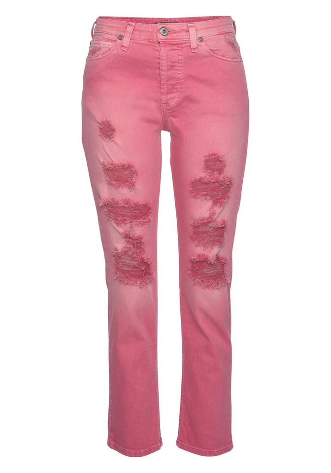 Please Jeans Destroyed-Jeans »P33T« Colored Denim   Bekleidung > Jeans > Destroyed Jeans   Rot   Jeans   Please Jeans