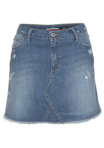 Please Jeans Jeansrock »G732B« mit Destroyed Effekten