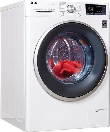 LG Waschtrockner F14WD96EH1, 9 kg, 6 kg 1400 U/min
