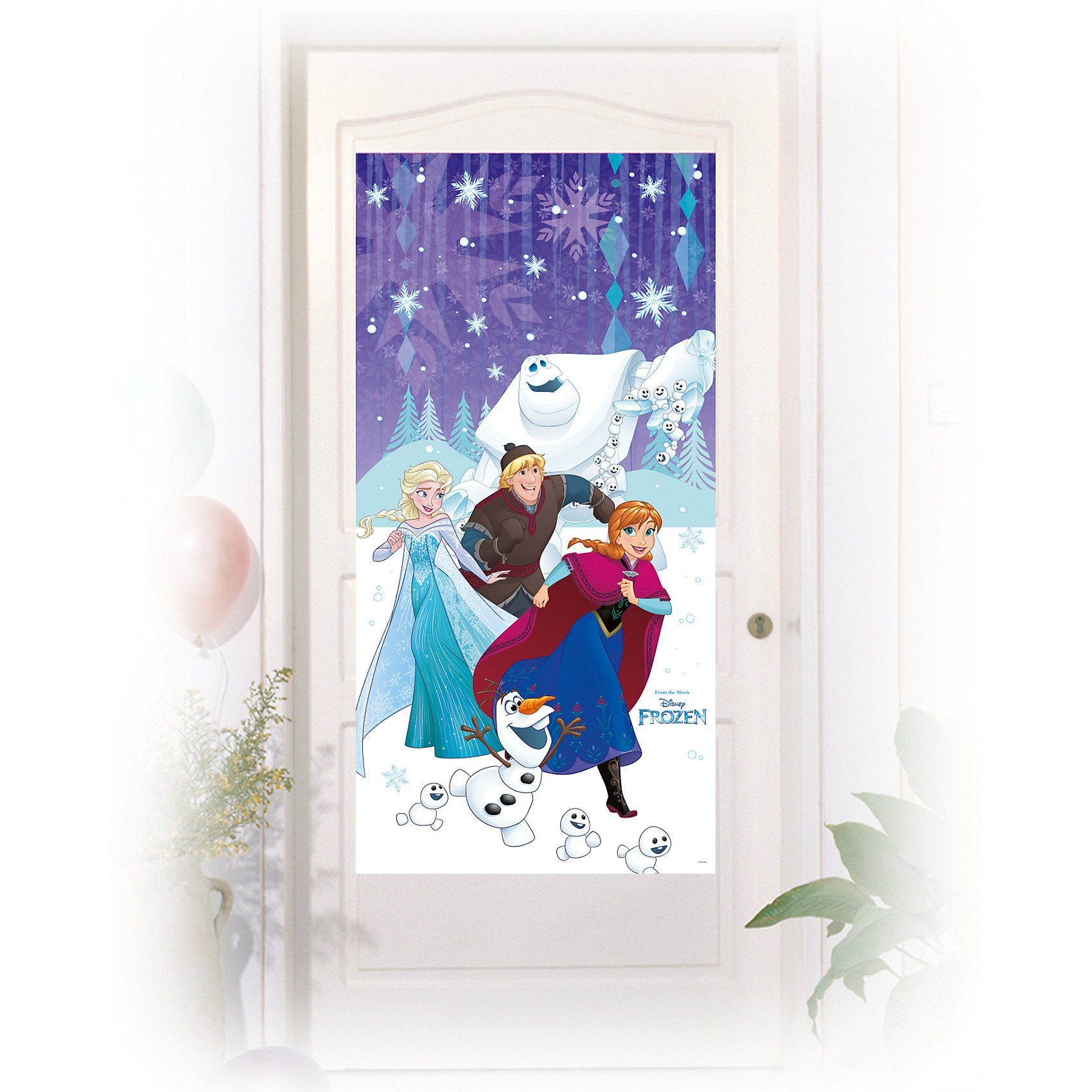 Procos Türposter Die Eiskönigin Snowflakes 76 x 152 cm