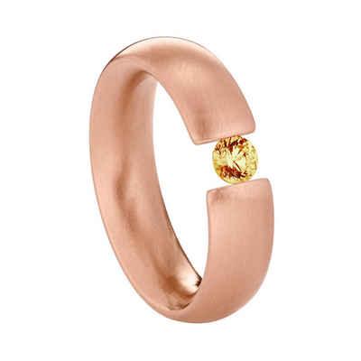 Heideman Fingerring »Intensio Rosegold« (1-tlg), Ring mit Stein als Spannring gearbeitet