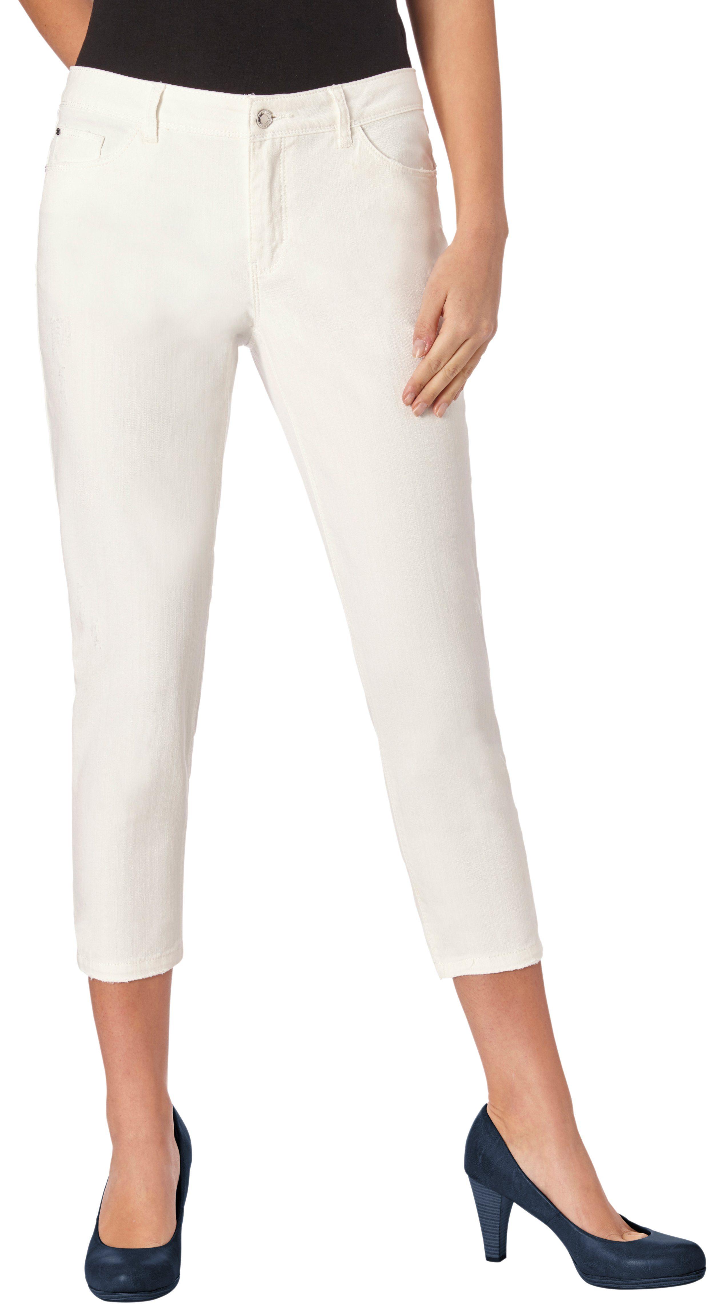 Casual Looks Jeans wadenlang mit angesagten Used-Elementen