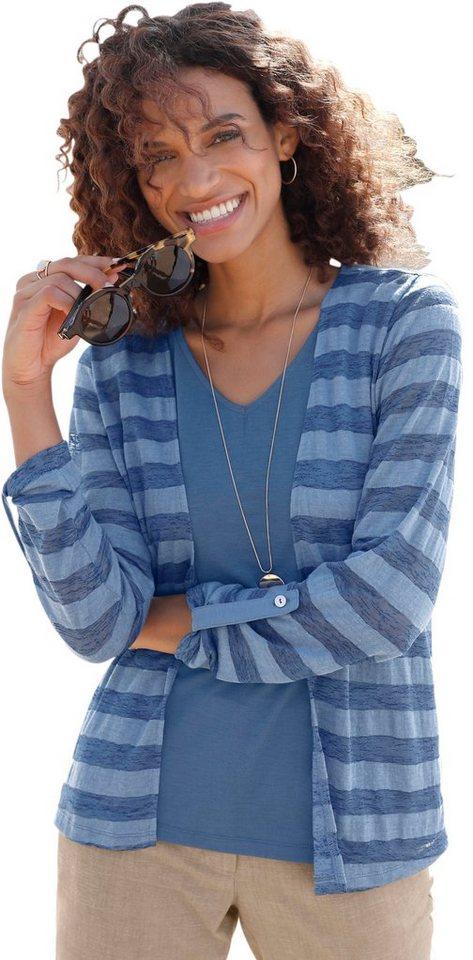 Casual Looks 2-in-1-Shirt im Streifen-Look | Bekleidung > Shirts > 2-in-1 Shirts | Blau | Casual Looks