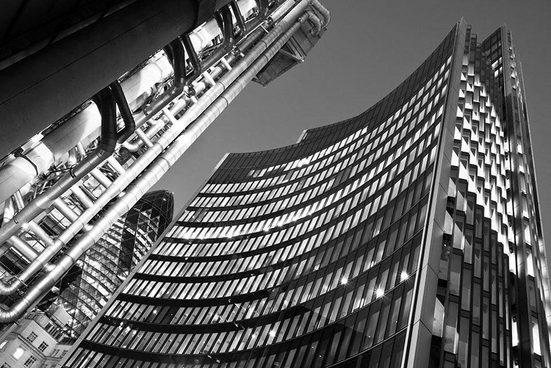 Places of Style Acrylglasbild »Hochhäuser«
