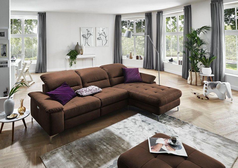 Places Of Style Ecksofa Basel Wahlweise Mit Vollmotorischer Relaxfunktion Und Motorischer Recamiere Online Kaufen Otto