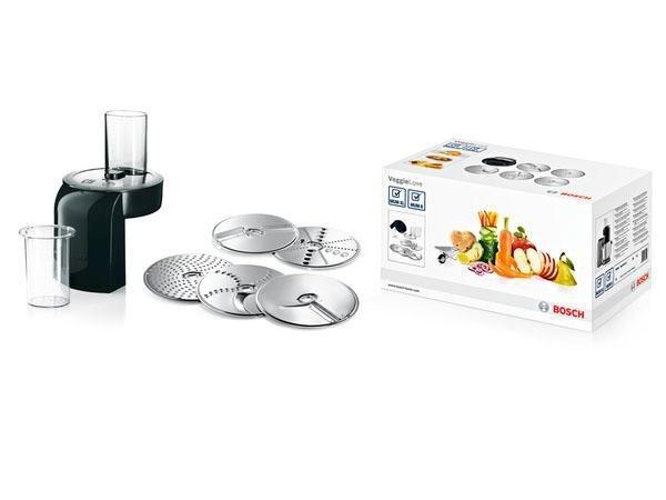BOSCH Durchlaufschnitzler MUZXLVL1, Zubehör für Küchenmaschinen MUMXL/XX und MUM8 silberfarben  Kuechenmaschinen