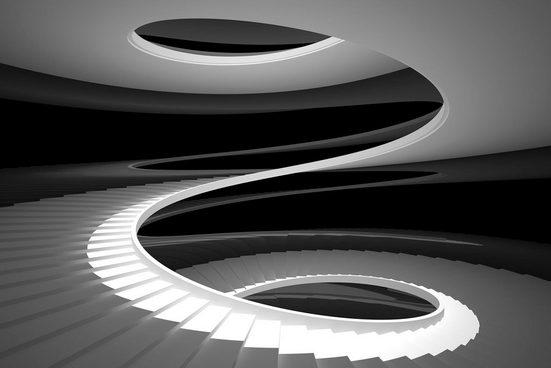 Places of Style Acrylglasbild »Wendeltreppe«