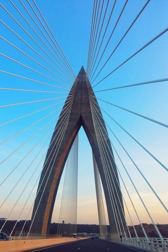 Places of Style Acrylglasbild »Brücke«