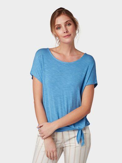TOM TAILOR T-Shirt »T-Shirt mit Knotendetail«
