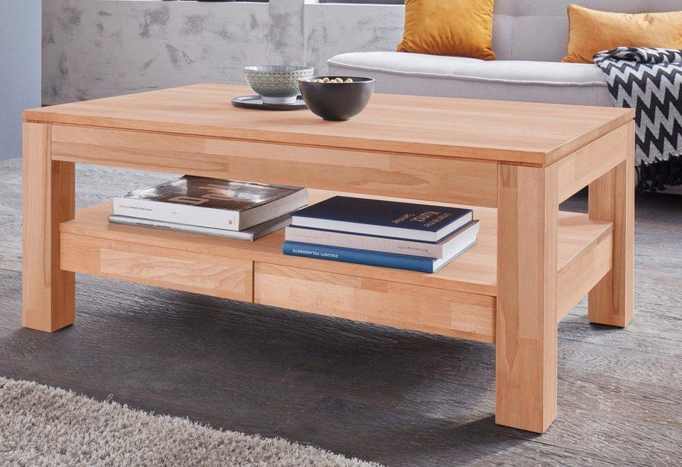 Couchtisch »Silkeborg«, Breite 110 cm, 1,8 cm starke Tischplatte online  kaufen | OTTO