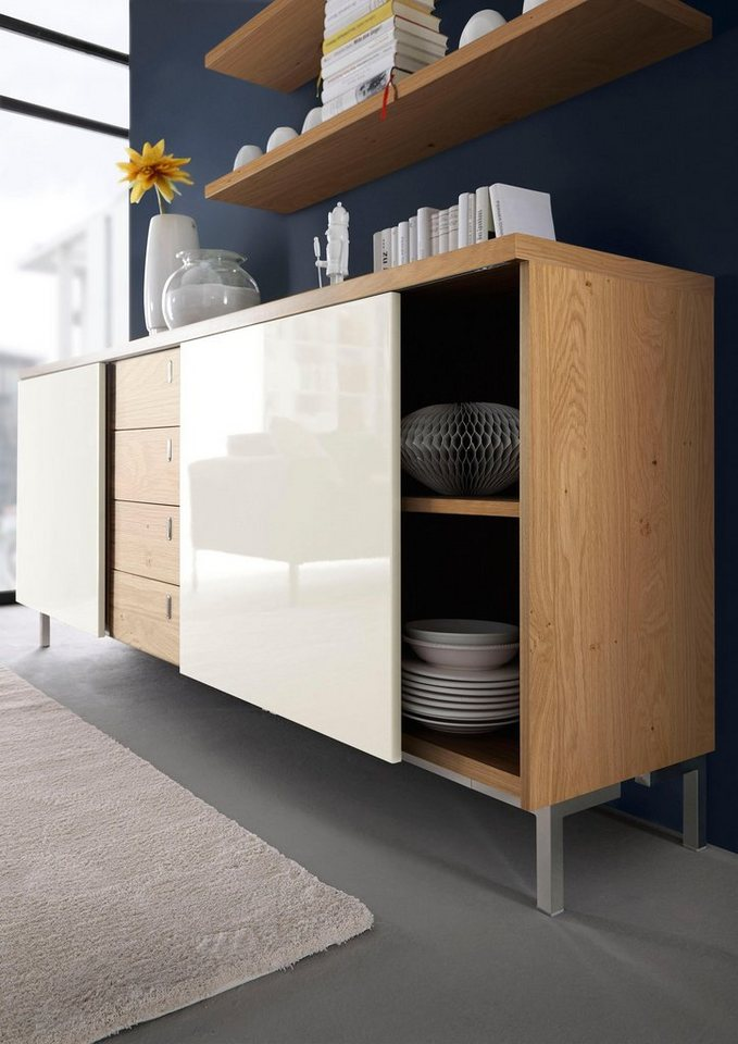 now by h lsta sideboard now time mit schiebet ren. Black Bedroom Furniture Sets. Home Design Ideas