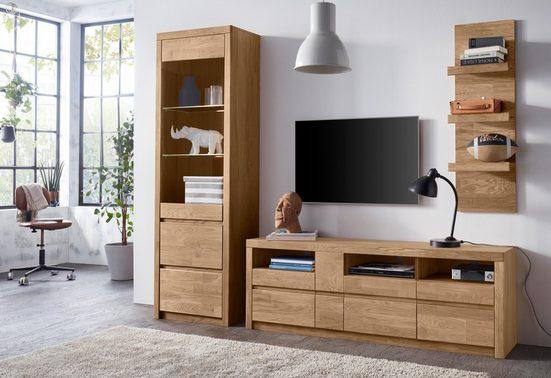 Woltra Wohnwand »Silkeborg«, (Set, 3-St), teilmassives Holz