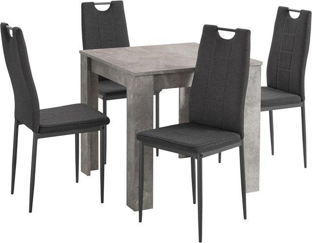 Essgruppen - HELA Essgruppe »RONJA G«, (Set, 5 tlg), bestehend aus einem Tisch und 4 Stühlen  - Onlineshop OTTO