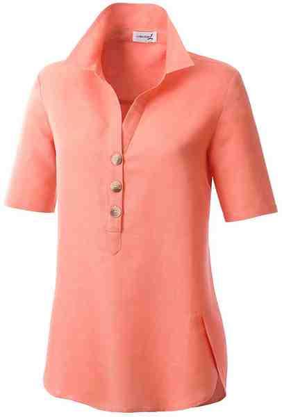 Casual Looks Bluse mit leicht gerundetem Saumabschluss